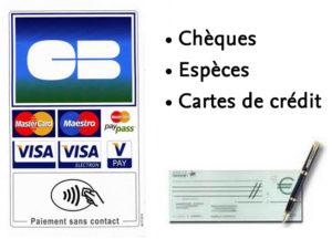 Plombier Paris 13 : Paiements acceptés